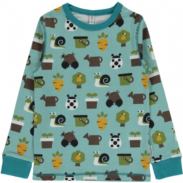 Maxomorra Long Sleeve Top Garden